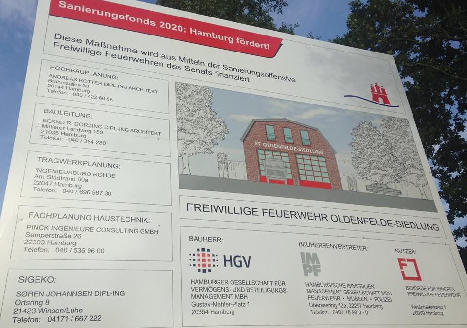 Baubeginn in Kürze: Die FF Oldenfelde-Siedlung bekommt ein neues Feuerwehrhaus