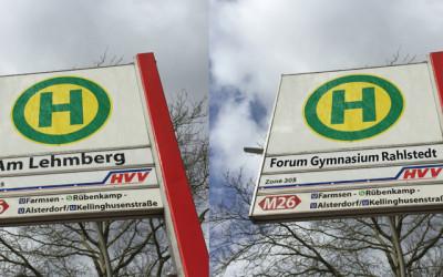 "Bushaltestelle ""Am Lehmberg"" heißt ab Dezember ""Forum Gymnasium Rahlstedt"""