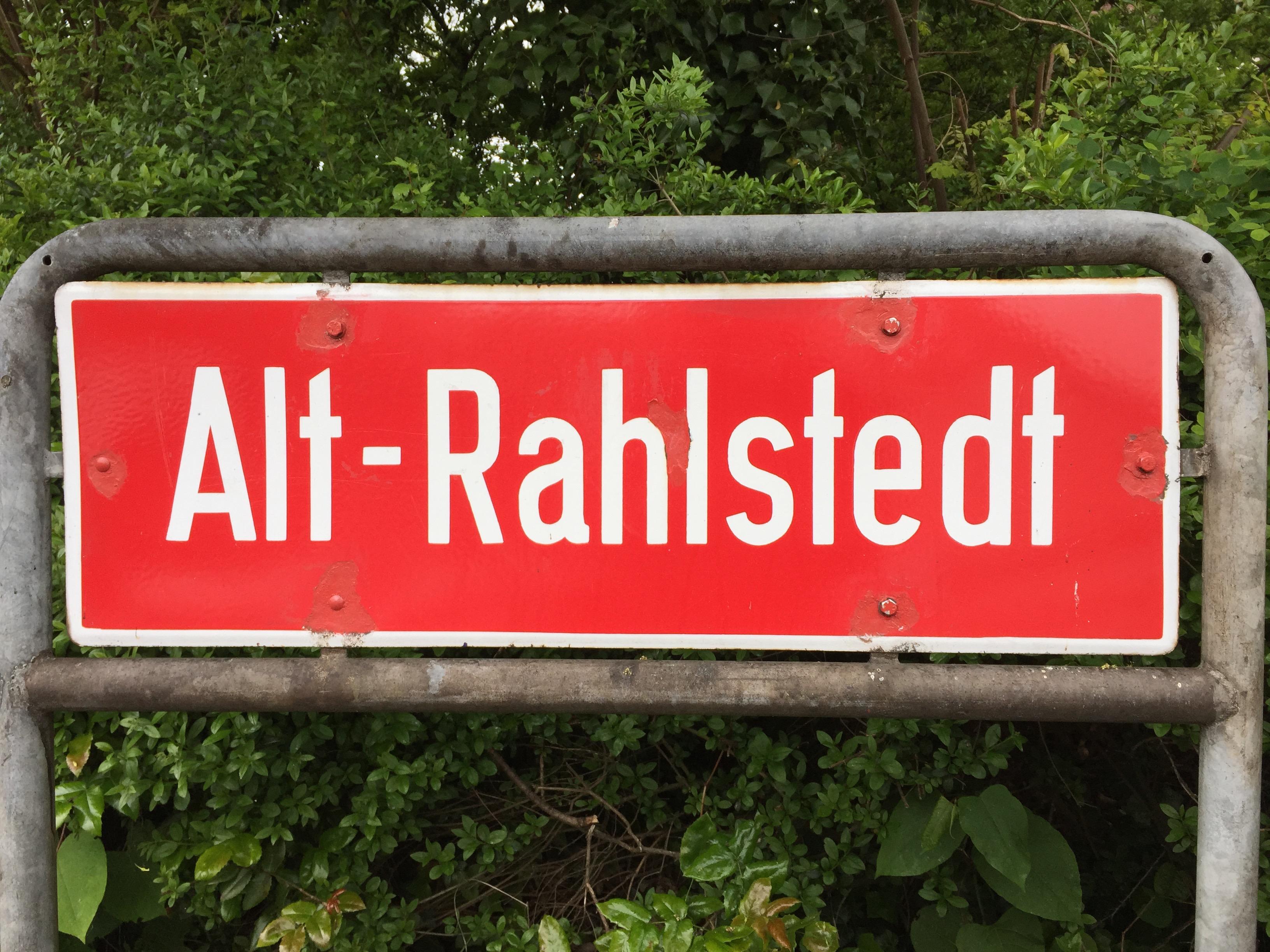 Ortsteilschild Alt-Rahlstedt