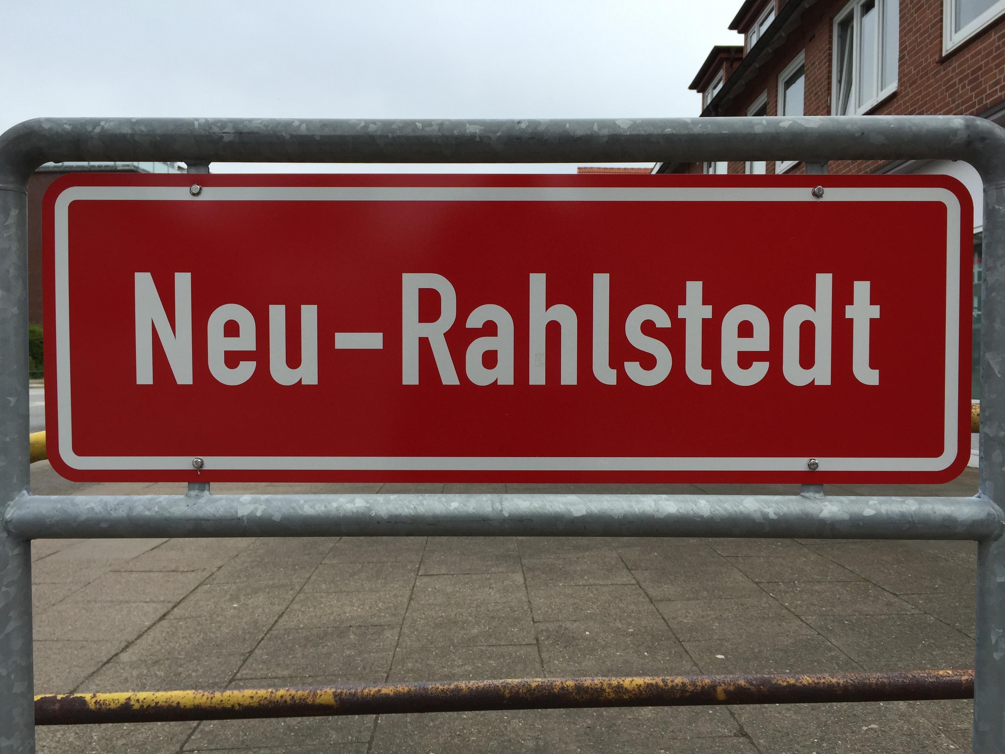 Ortsteilschild Neu-Rahlstedt