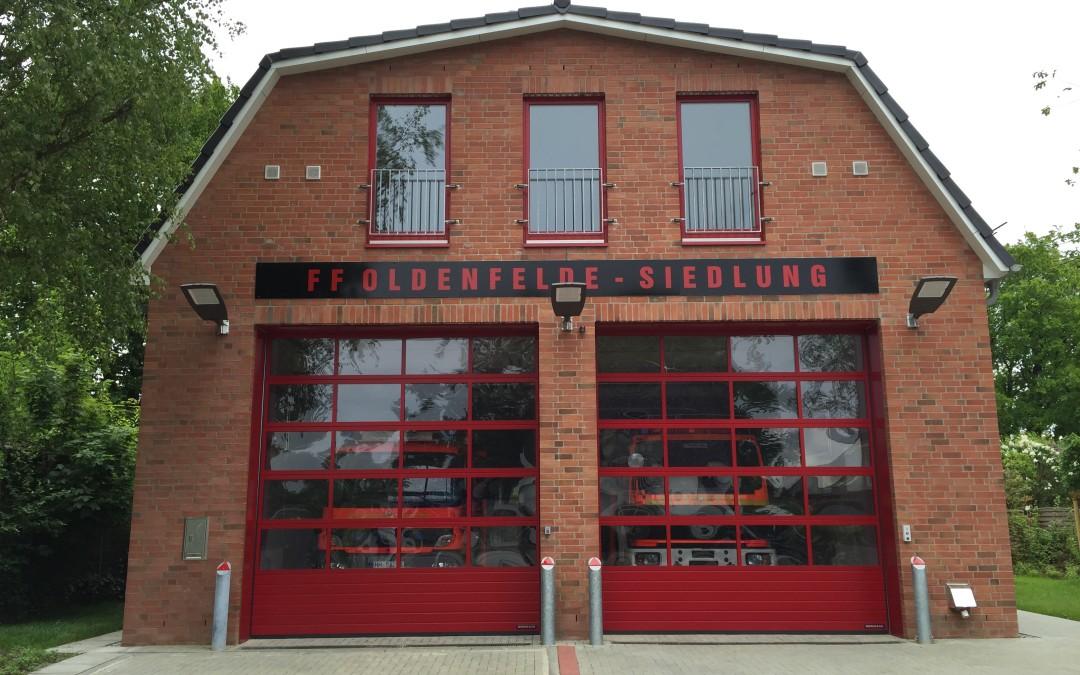 Neues Feuerwehrhaus der FF Oldenfelde-Siedlung eingeweiht