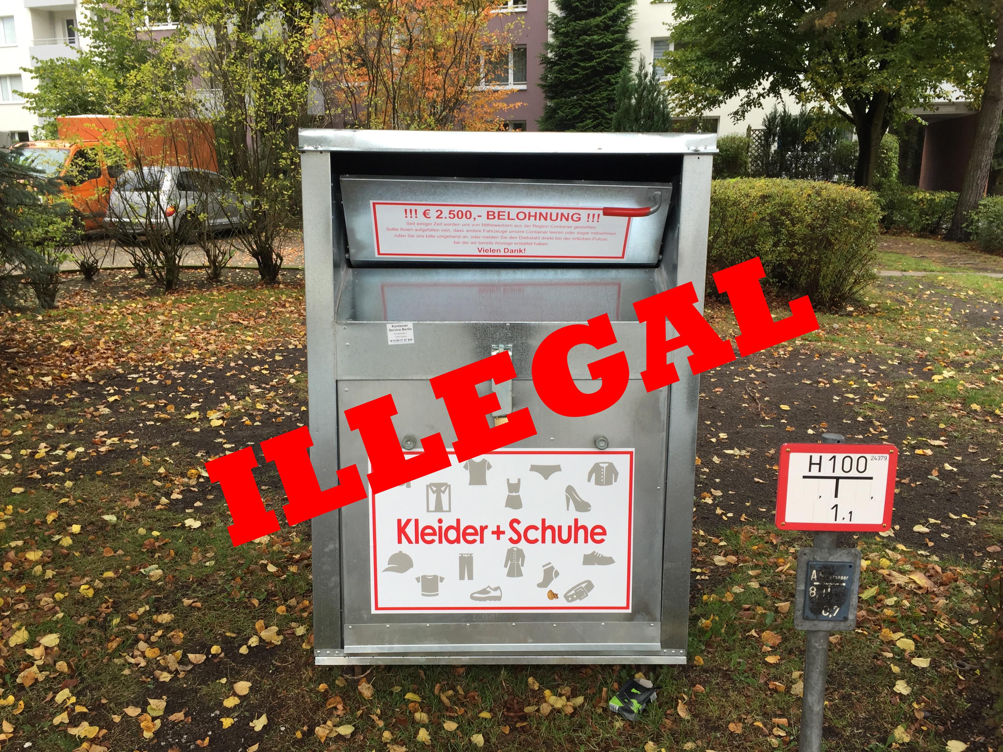 Astonishing Container Aufstellen Ohne Baugenehmigung Reference Of Aufgepasst: Wieder Illegale Altkleider-container In Rahlstedt Aufgetaucht