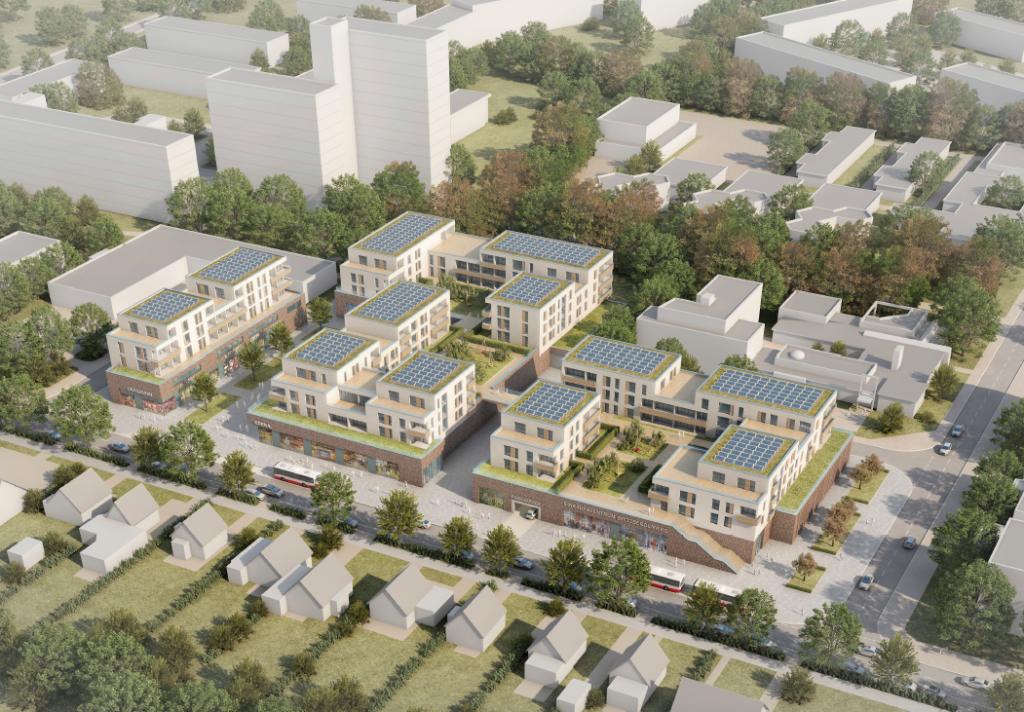 Geplanter Neubau des Einkaufszentrum Spitzbergenweg in Meiendorf: Neue Planungsvariante wird vorgestellt