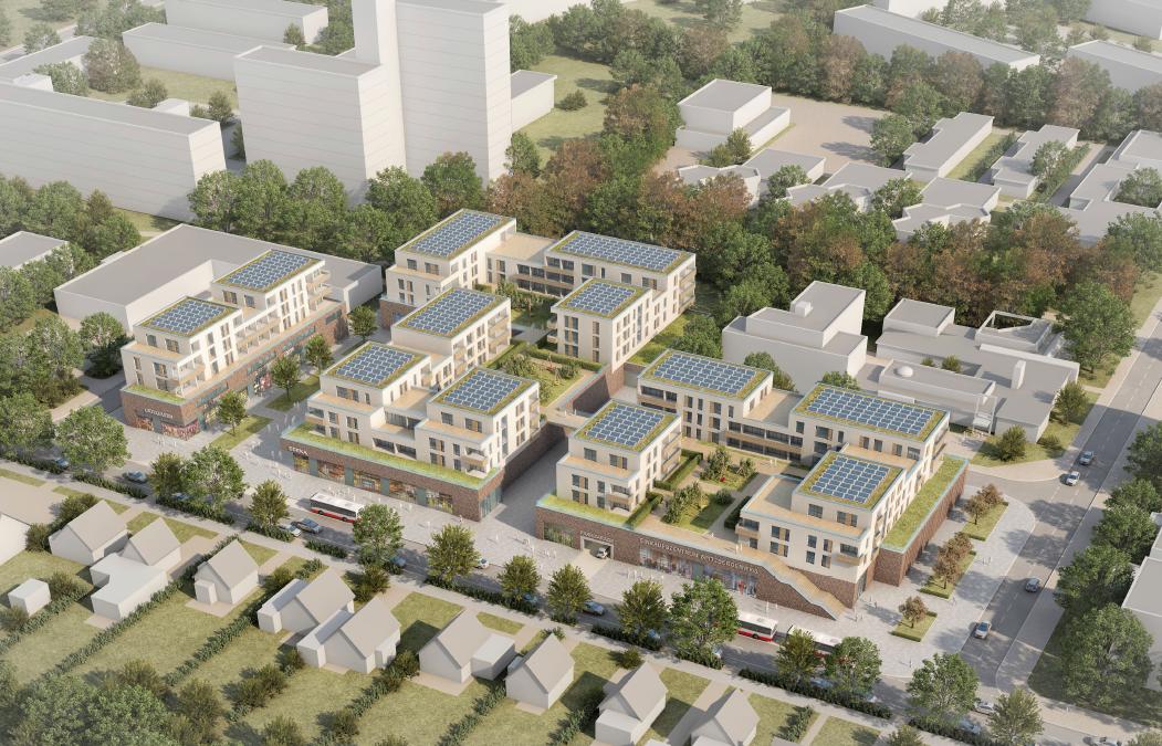 Einkaufszentrum Spitzbergenweg: Überarbeitete Pläne werden vorgestellt