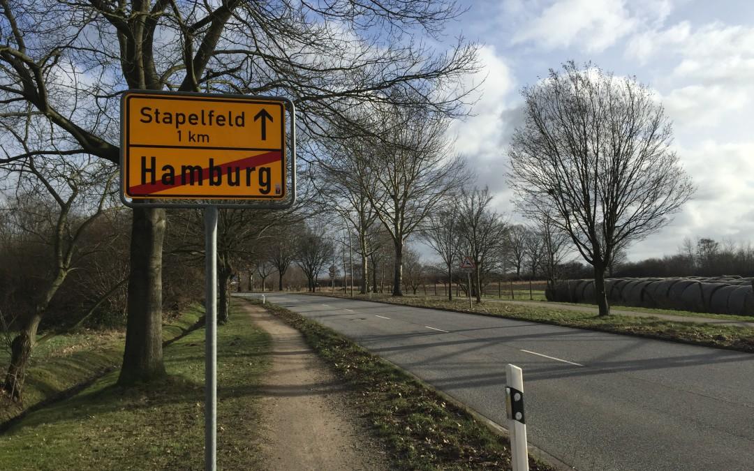 Landesgrenze an der Stapelfelder Straße in Hamburg-Rahlstedt