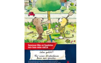 """Janosch-Poster wirbt für Spendenaktion """"Mein Baum – meine Stadt"""""""