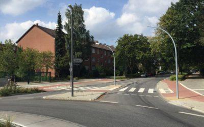 Neuer Fußgängerüberweg am Kreisverkehr Spitzbergenweg