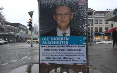 Buschhüter lädt ein zur Bürgersprechstunde in Oldenfelde