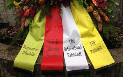 Volkstrauertag 2017: Gedenken in Rahlstedt, Meiendorf und Oldenfelde