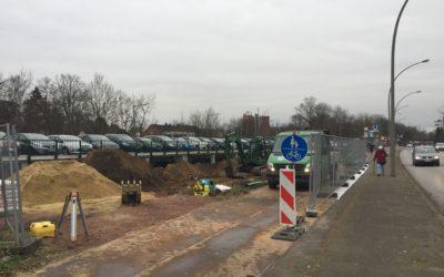 Baubeginn für bessere Fahrradstellplätze am U-Bahnhof Berne