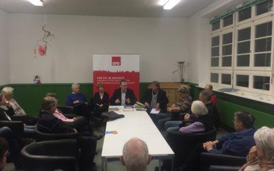 Engagierte Diskussion bei meiner Bürgersprechstunde in Meiendorf