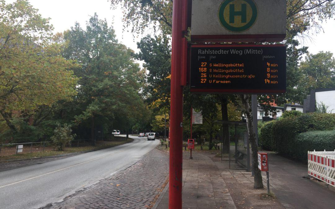 Rahlstedter Weg (Mitte): Busbuchten werden ab Mitte 2018 verlängert