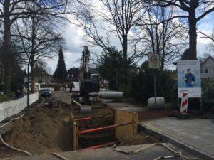 Sielbauarbeiten in der Buchwaldstraße in Hamburg-Rahlstedt