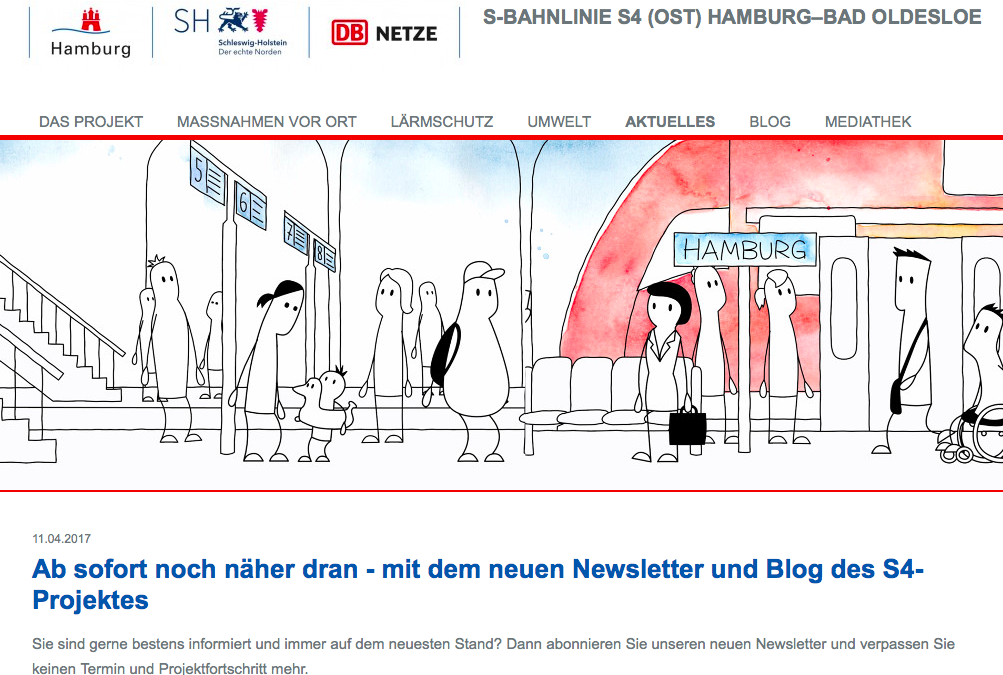 Alles zum Projekt S4: Newsletter, Blog, Video
