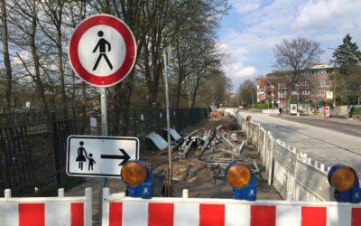 Bauarbeiten für mehr und bessere Fahrradstellplätze am U-Bahnhof Berne