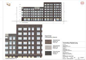 Neubau Einkaufszentrum Hegeneck: Musteransicht