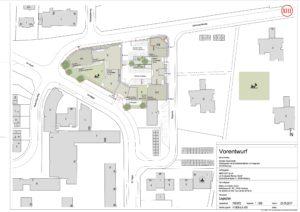 Neubau Einkaufszentrum Hegeneck: Lageplan