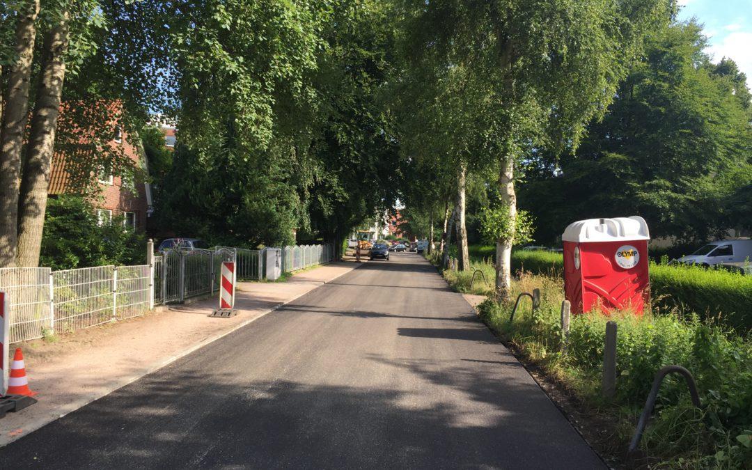 Stolper Straße in Meiendorf erhält neue Fahrbahndecke