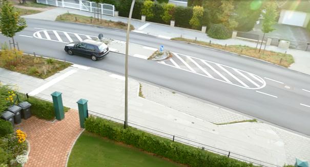 Polizei trifft Maßnahme gegen Falschfahrer im Meiendorfer Weg