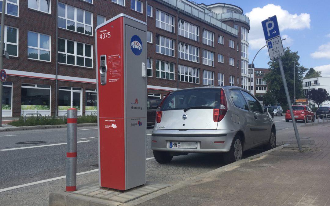 Ladesäulen für Elektrofahrzeuge jetzt auch in Rahlstedt