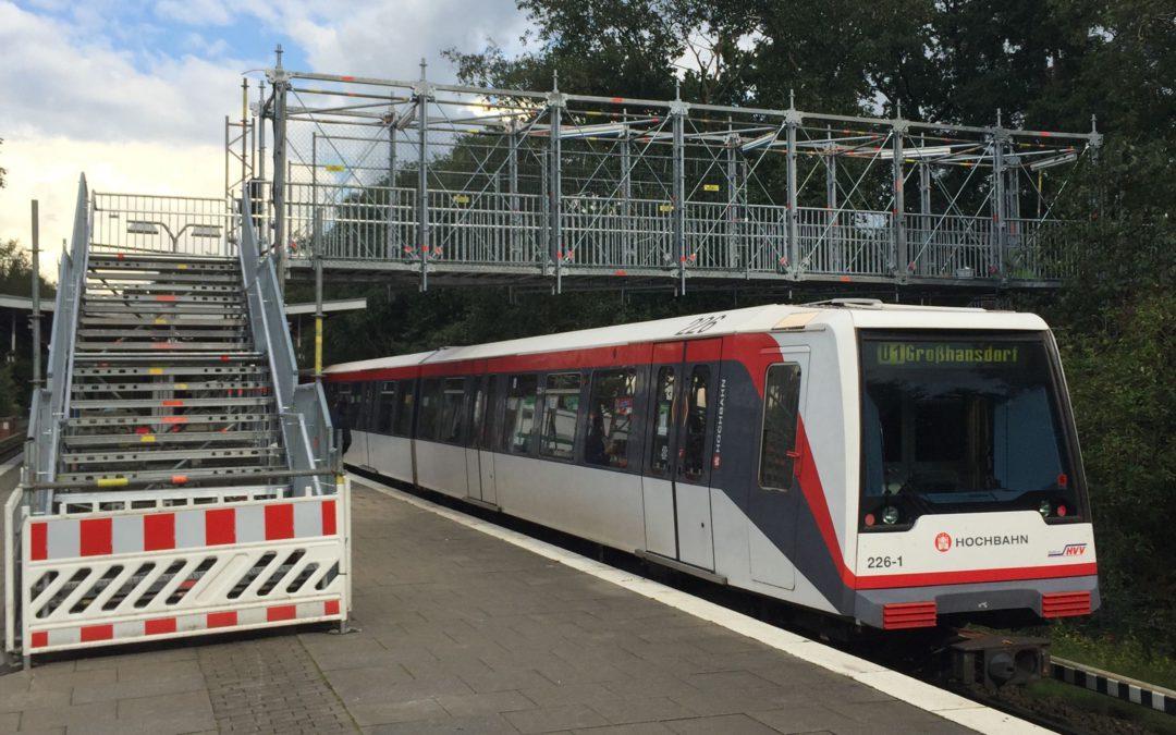 U-Bahn-Haltestelle Meiendorfer Weg: Bauarbeiten für Barrierefreiheit haben begonnen