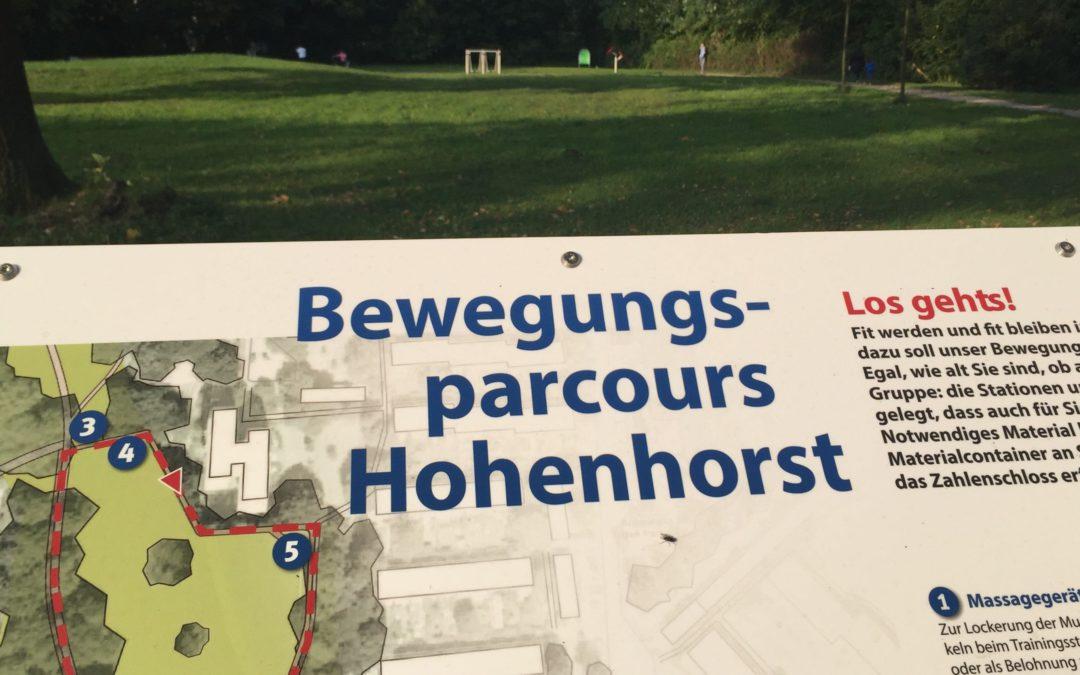 Neuer Bewegungsparcours im Hohenhorst-Park eingeweiht