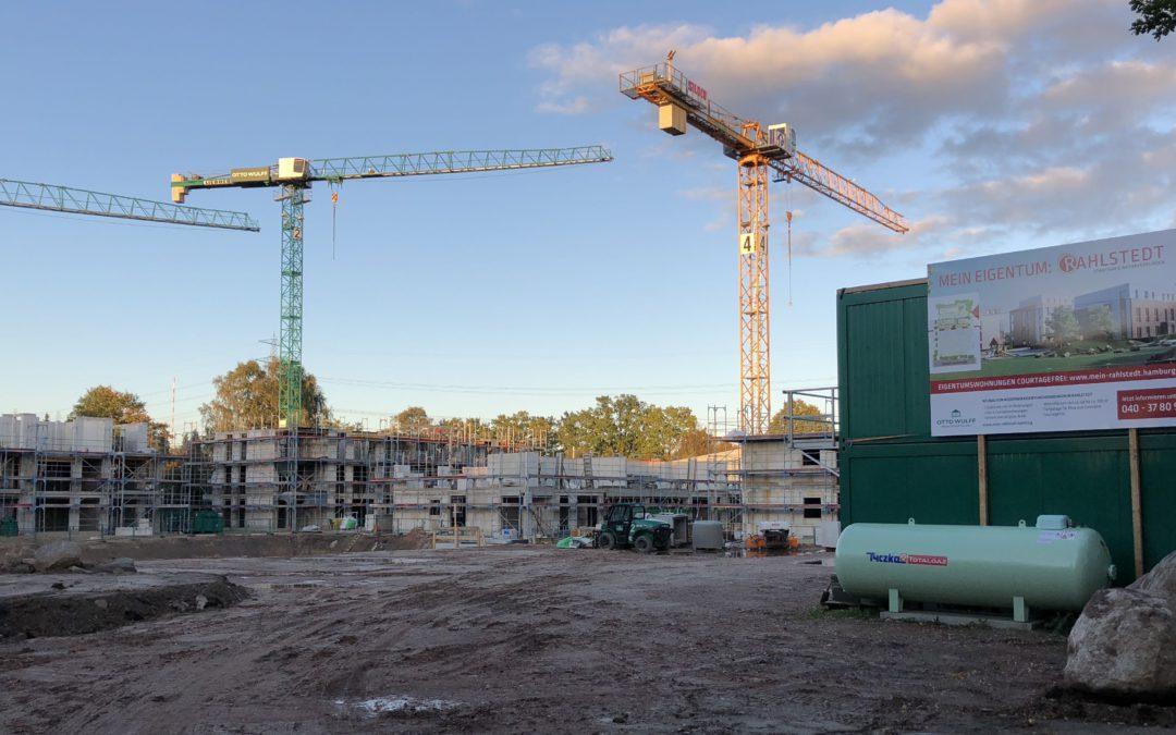 Wohnungsneubau in Rahlstedt 2016 weiter auf hohem Niveau
