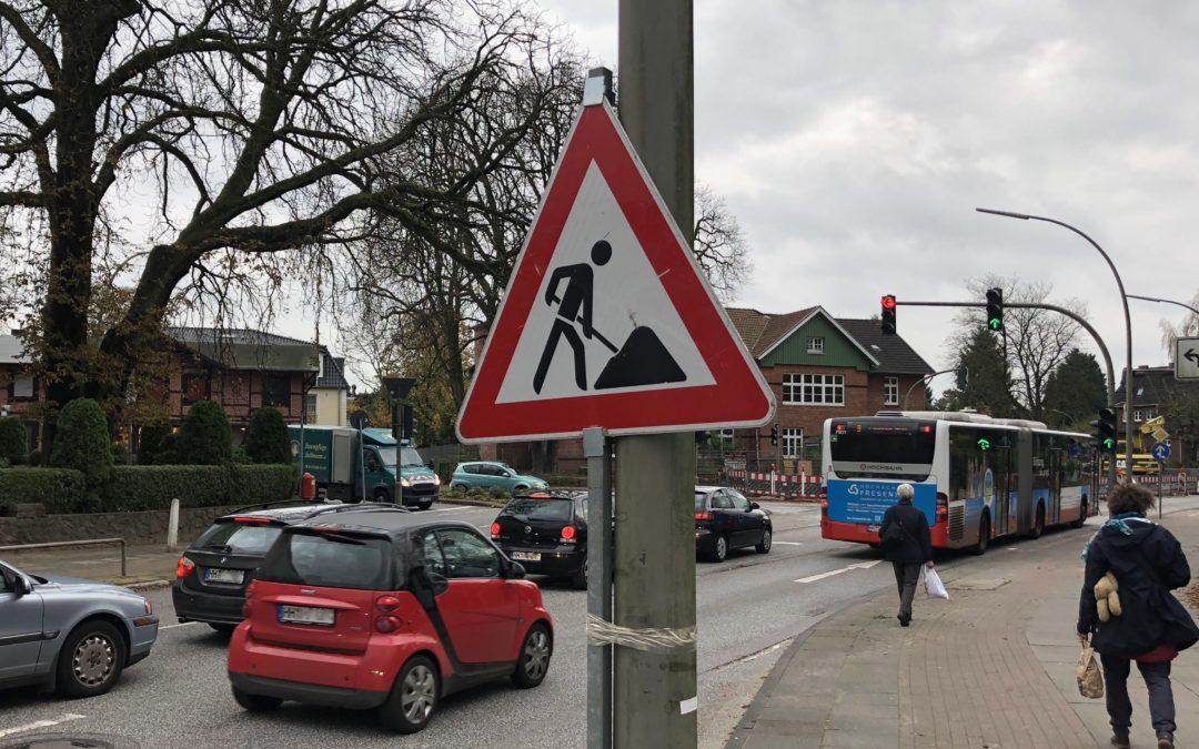 Baustelle Rahlstedter Straße: MetroBus 9 fährt ab Montag stadtauswärts über Amtsstraße