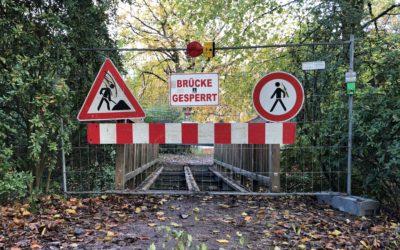Wandsebrücke im Liliencronpark wird erneuert