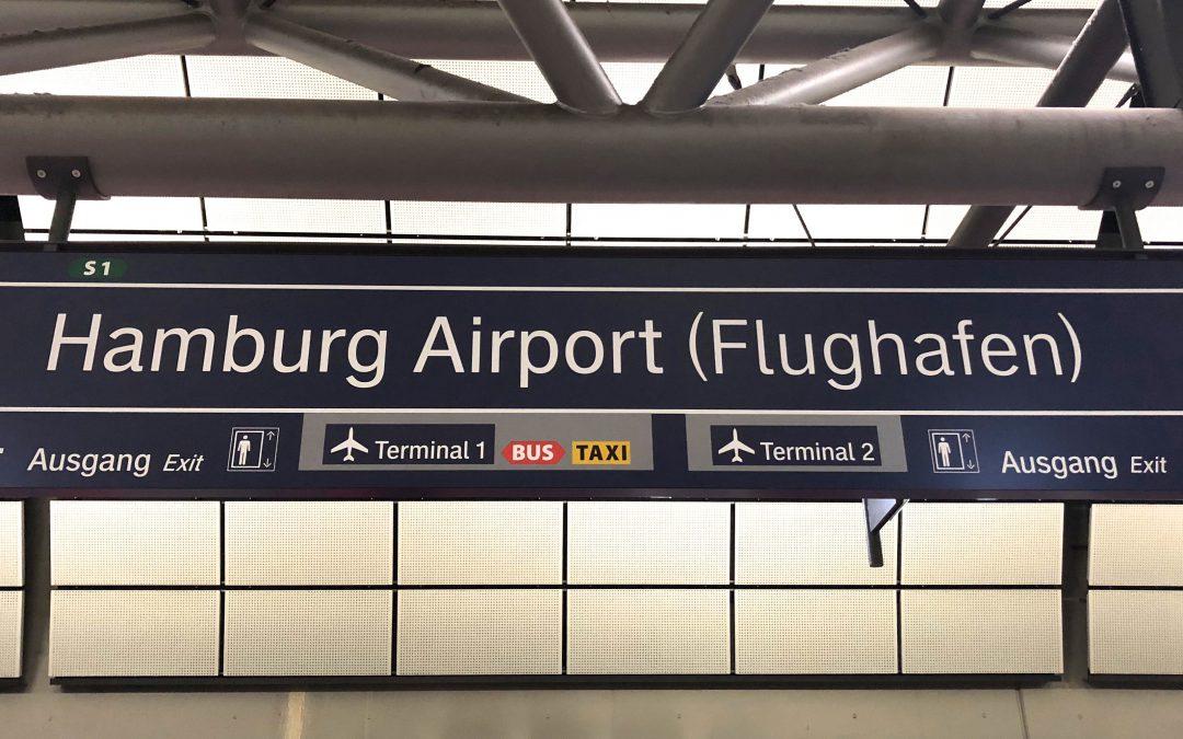Haltestelle Hamburg Airport (Flughafen) der Flughafen-S-Bahn