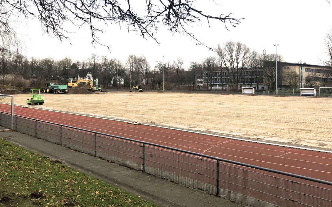 Im Sportpark Rahlstedt entsteht ein zweiter Kunstrasenplatz.