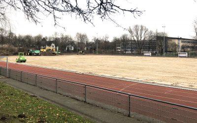 Sportpark Rahlstedt: Zweiter Kunstrasenplatz im Bau