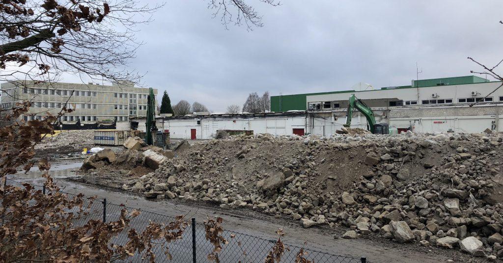 Ehemalige Druckerei Broschek im Gewerbegebiet Bargkoppelweg in Hamburg-Meiendorf