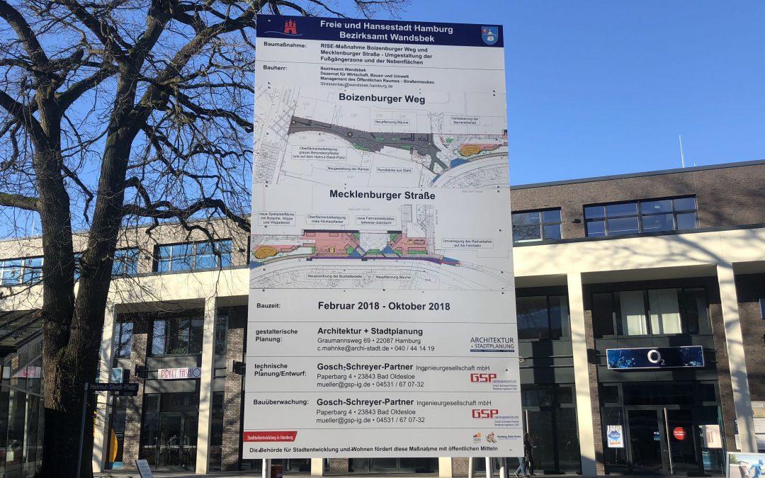 Fußgängerzone Boizenburger Weg/Mecklenburger Straße: Behutsame Umgestaltung startet im Mai