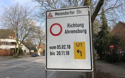 Meiendorfer Straße bekommt neue Fahrbahn und ordentliche Geh- und Radwege