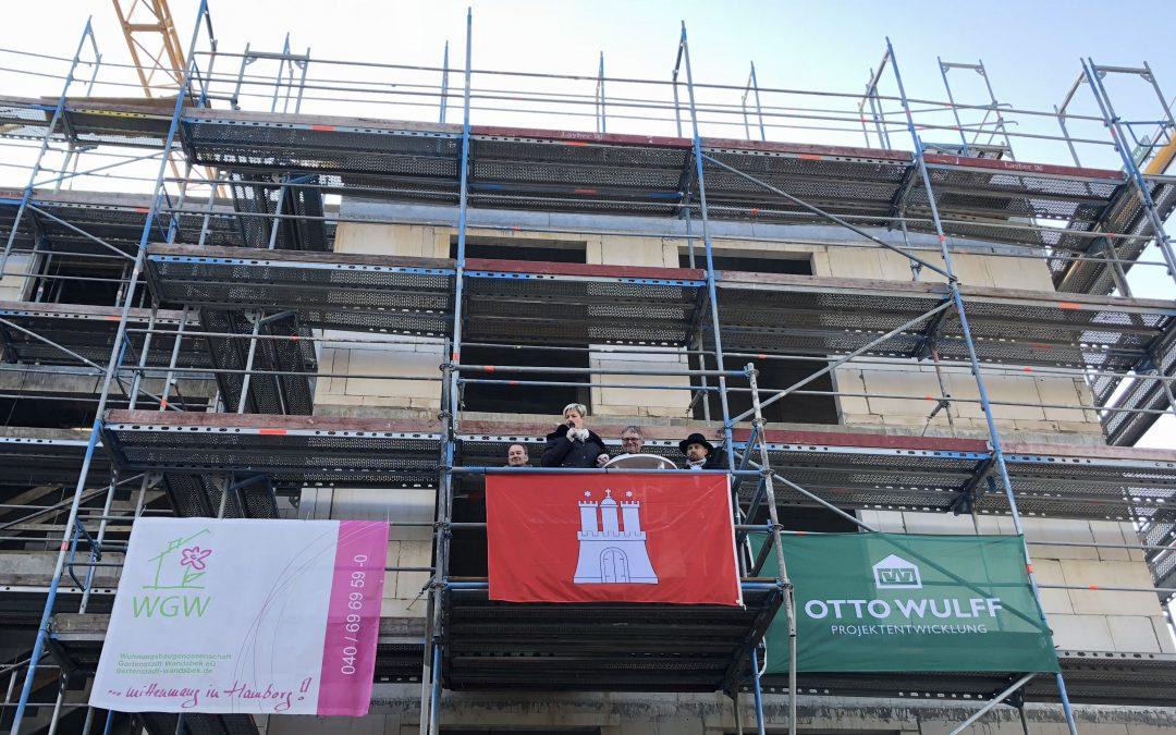 Richtfest für 155 neue Wohnungen an der Sieker Landstraße