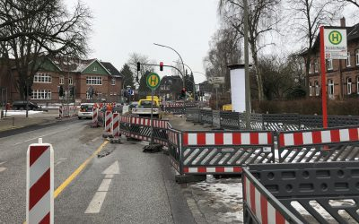 Baustelle Rahlstedter Straße: Mitte April ist erstmal Schluss