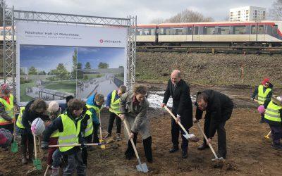 Großer Bahnhof in Oldenfelde: Spatenstich für neuen U-Bahnhof