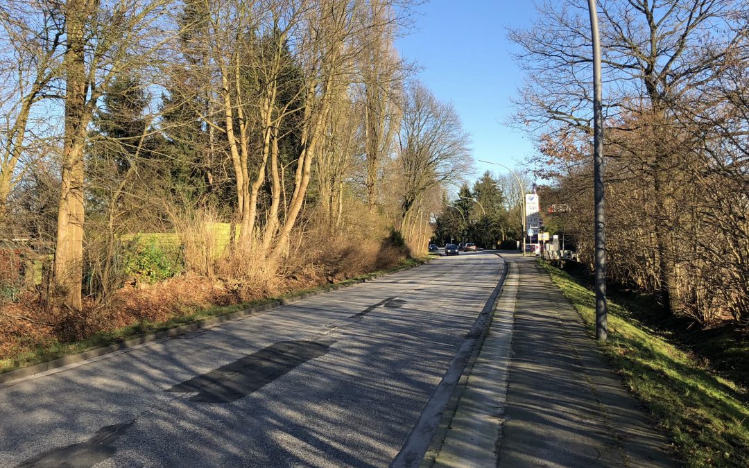 Meiendorfer Straße im Abschnitt Spitzbergenweg bis Hellmesbergerweg in Hamburg-Rahlstedt