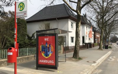 """Bushaltestelle """"Forum Gymnasium Rahlstedt"""" jetzt mit Fahrgastunterstand"""