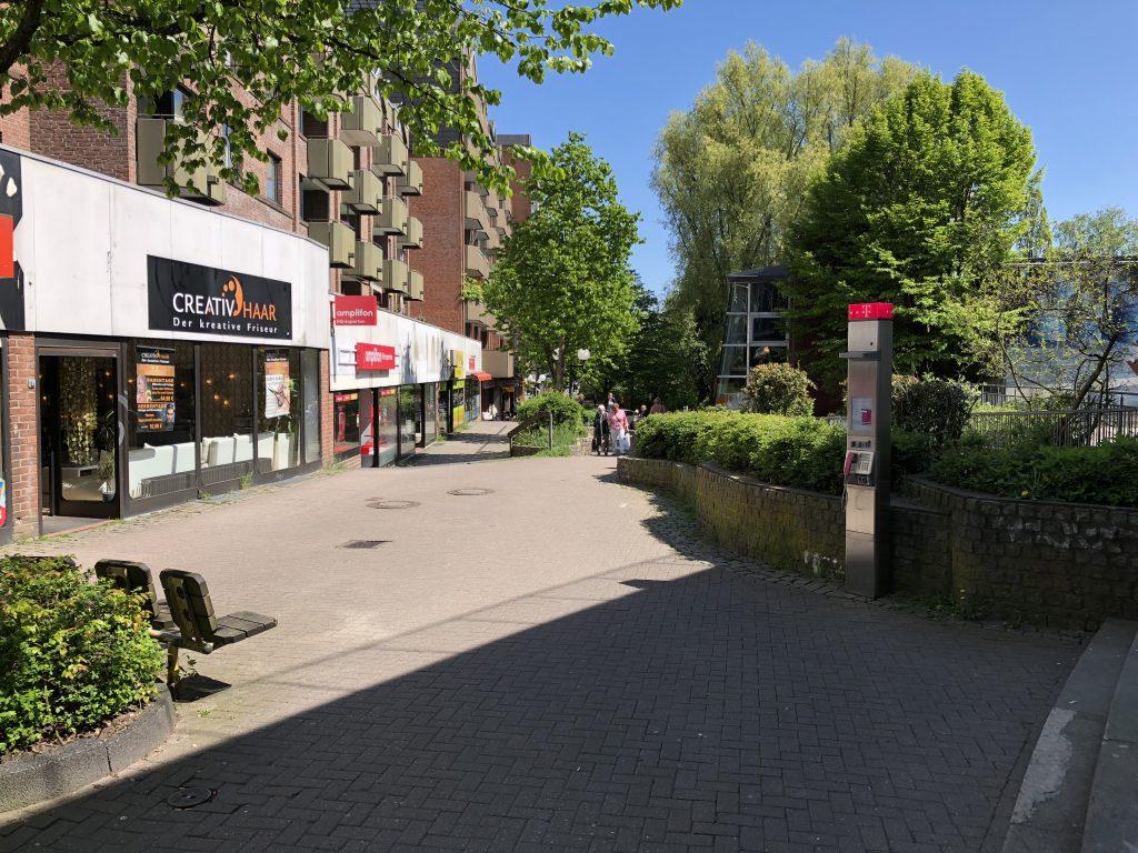 Fußgängerzone Boizenburger Weg in Hamburg-Rahlstedt