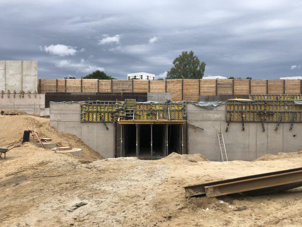 Im Bau: Zugang zur neuen U-Bahn-Station Oldenfelde