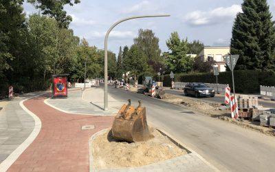 Bauarbeiten in der Meiendorfer Straße kommen sichtbar voran