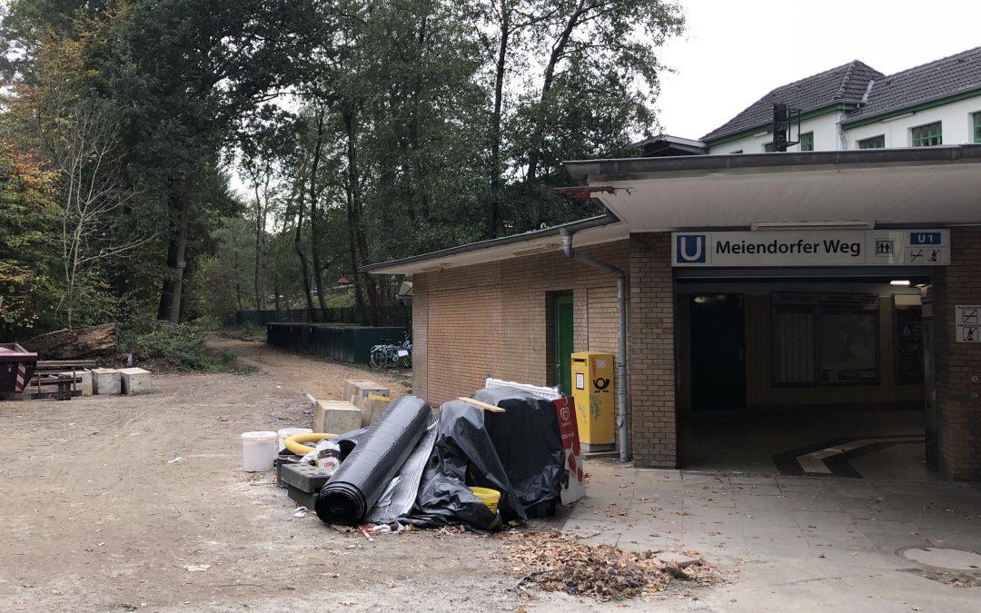 300 neue Fahrradstellplätze an der U-Bahn-Station Meiendorfer Weg