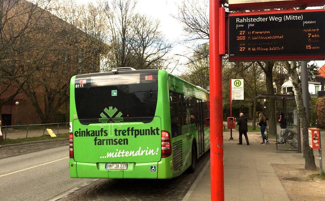 Weniger Stau im Rahlstedter Weg: Busbuchten werden in den Sommerferien verlängert