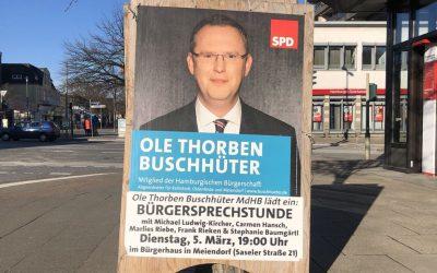 Buschhüter lädt ein zur Bürgersprechstunde in Meiendorf