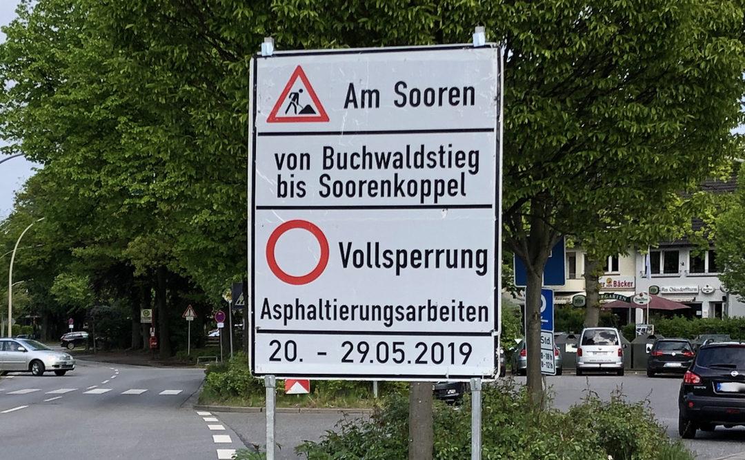 Straße Am Sooren bekommt neue Fahrbahndecke