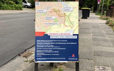 Öffentliche Plandiskussion über Bebauungsplanentwürfe in Rahlstedt