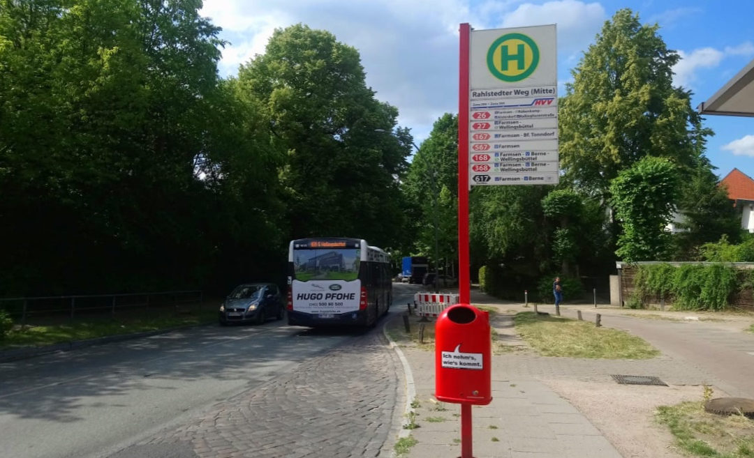 Weniger Stau im Rahlstedter Weg: Busbuchten werden verlängert, Straße wird saniert