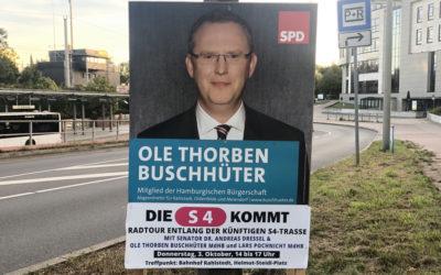 Die S4 kommt – SPD Wandsbek lädt ein zur S4-Radtour